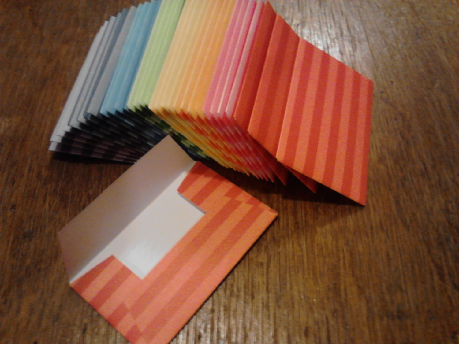 Striped Gift Card Business Cards Envelope Trios Assorted