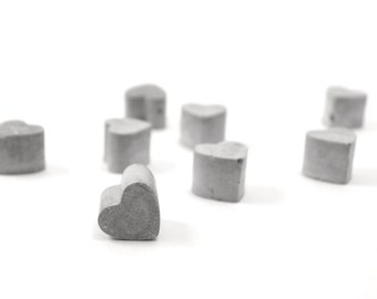 Concrete Heart Magnets -- set of 4-- Modern minimalist decoration concrete gift valentines gift