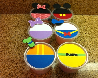 Mickey and Friends / Mickey's Clubhouse cotton candy favors / cotton candy tubs (qty 12)
