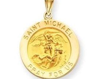 Large Saint Michael Medal Pendant (JC-520)