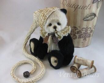 Crochet Hat for miniature artist bear or doll handmade by Vera J.Bears