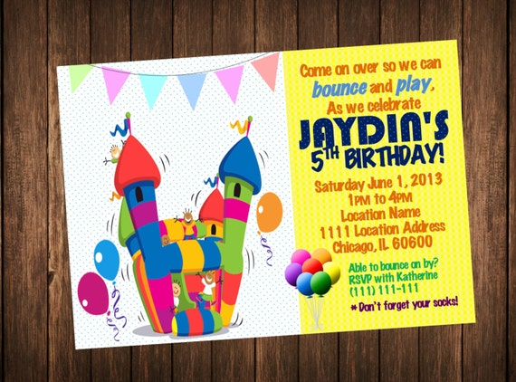 Bounce house invitation bounce house birthday invitations kids il570xn filmwisefo