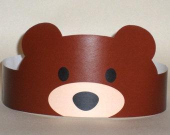 Bear Paper Crown - Printable