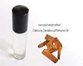 OAKMOSS SANDALWOOD, Perfume Oil, Handmade Perfume Oil in a 7ml Glass Roller Ball Bottle