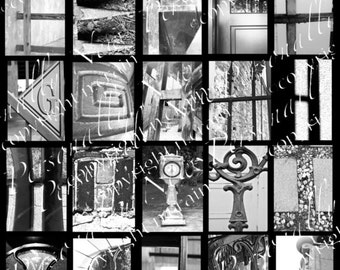 Photo Alphabet Letter Art, Personalized, Black and White, Letter Digital Downloads