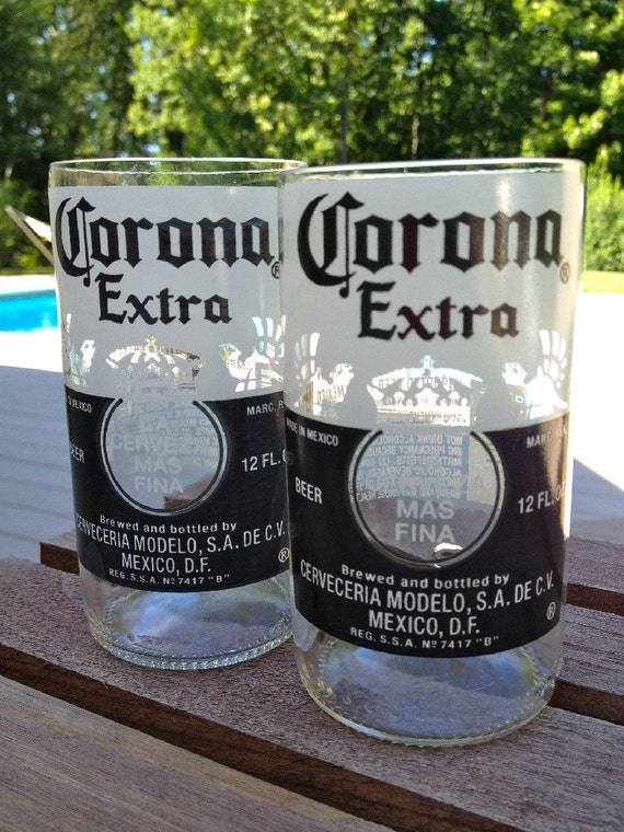 Corona glasses pair beer bottle glasses juice glasses for How to make corona glasses