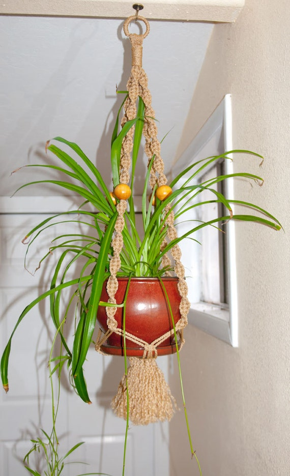 macrame plant hanger for indoor outdoor by ludshandicrafts