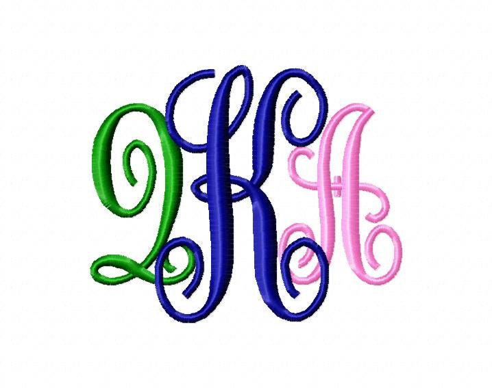 Monogram kk bold machine embroidery fonts