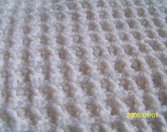Crochet PATTERN - New Release!! Snowy Snuggles Waffle Blanket - Crochet Pattern