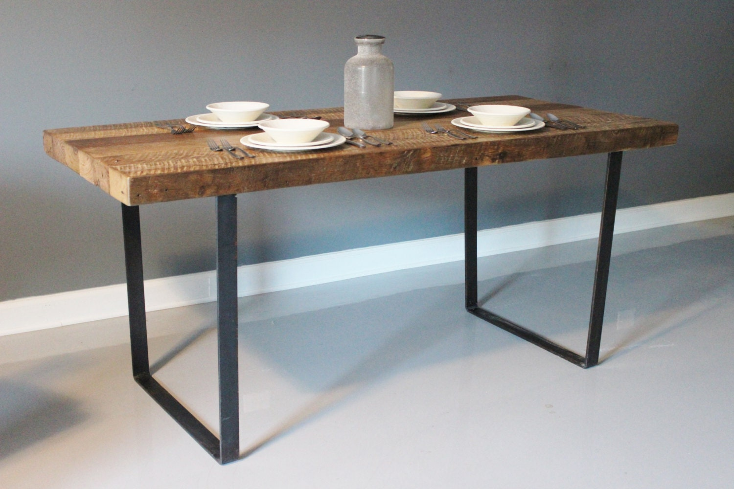 Superb img of Wood Plank Dining Table Reclaimed Wood Furniture by DendroCo with #654834 color and 1500x1000 pixels
