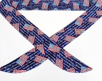 Patriotic Neck Cooler, American Flag Cool Tie Neck Wrap, Keep Cool Bandana, Gel Cooling Scarf, Body Head Heat Relief Headband iycbrand