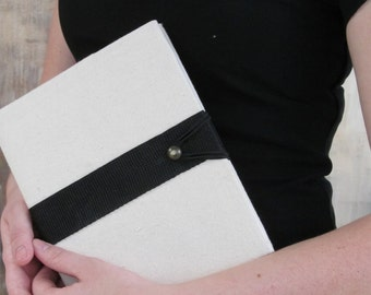 The Loft organic cotton duck belted journal