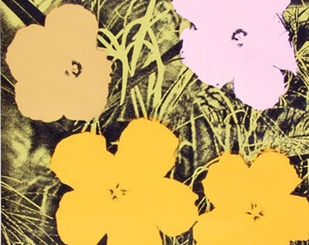 """Andy Warhol """"Flowers 67"""" -  Sunday B. Morning - After - S/N Silkscreen - COA - See Live at GallArt"""