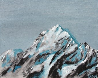 "Mountain Painting Art Print Giclee Limited Edition ""Himalaya"" 10x12"" //"