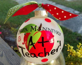 Personalized Christmas Teacher's Ornament