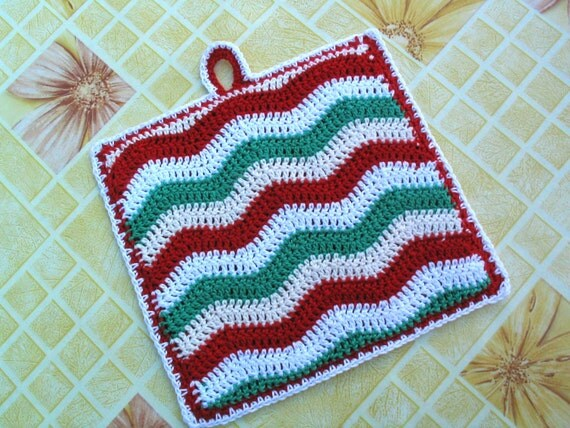 Crochet Zingy Pattern : Zingy Ripple pot holder