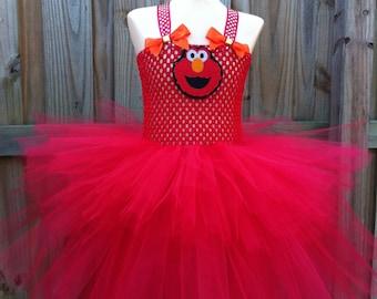 Elmo tutu/ Elmo tutu dress/ Sesame Street tutu/Elmo headband/ Sesame Street headband/ elmo costume/ abby cadabby tutu/ abby cadabby dress