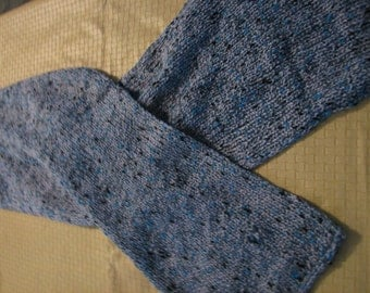 Knitted Gray/Blue Scarf