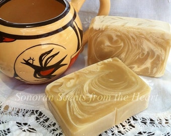 Soap, White Tea & Ginger Scented Botanical Soap with Aloe Vera