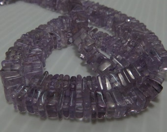 16 Inches Beautifull 100%  Natural Stone Amethyst  Smooth Polish Heishi Squar Bead Shape Size 4  mm to 5 mm Approx