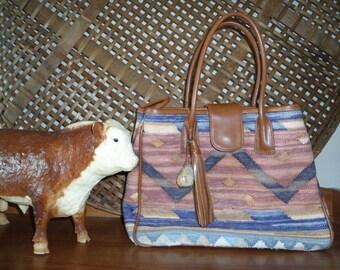 Vintage Southwestern Style Tapestry Handbag by Marco Avane