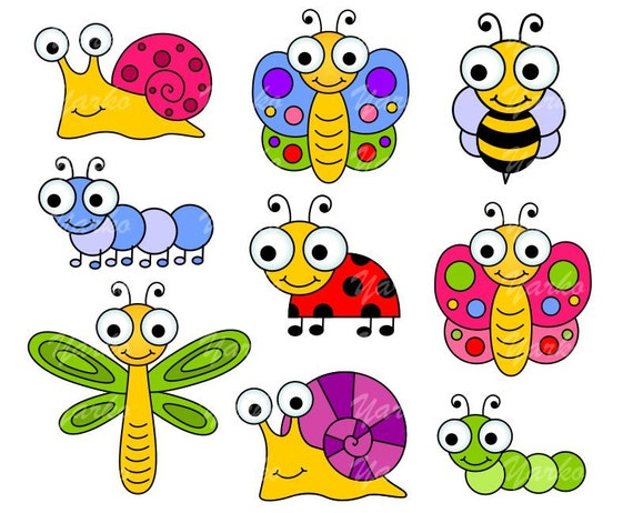 Cute Bugs Clip Art Insects Clipart Ladybug Snail by ...