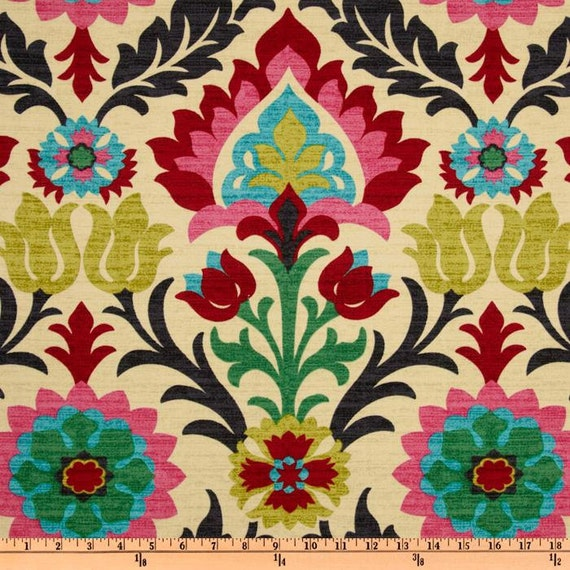 Waverly Santa Maria Desert Flower Home Decor Damask Fabric