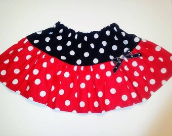 Minnie Mouse Skirt-Red and Black