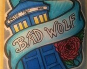 Bad Wolf (Doctor Who themed marker sketch)