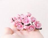 Pink Flower Cherry Sakura blossom Fascinator - Wedding hair flowers -Floral hair accessories -Wedding cherry blossoms