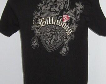 Black Tee Shirt BILLABONG Vintage 90's-Skeleton/Skull Skateboard Tee Shirt