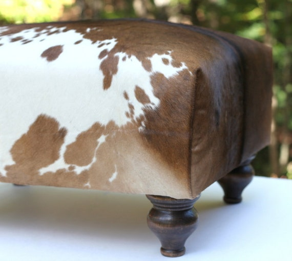Sale Handcrafted Cowhide Ottoman Handmade With New
