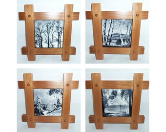 Black and White Photography Art - Framed Art Tiles - Wall Art Decor - Trees and Nature Photography, Nautical Decor, Mission Style Wall Decor