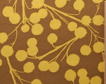SALE Joel Dewberry fabric Chestnut Branch JD09 Ochre brown yellow gold circles sewing/quilting 100% cotton fabric free spirit by the yard