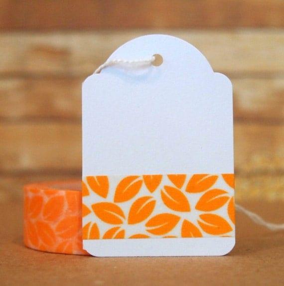 Orange Leaves Washi Tape