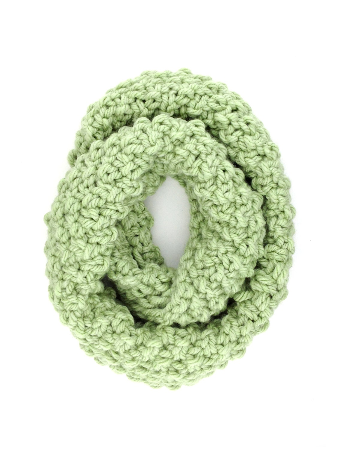 Moss Stitch Scarf Knitting Pattern : Soft Acrylic Moss Stitch Knit Infinity Scarf by DaniSchaferDesigns