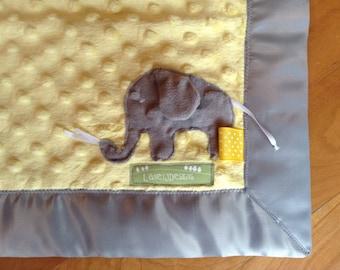 Elephant Snuggle Blankie (security blanket)