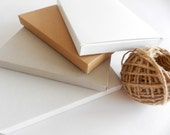 18 Kraft, White, Extra White or Gray Gift Boxes I Medium size THIN gift boxes 6.3x4.72x0.6 - FunkyBoxStudio
