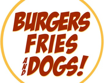 Burgers Fries Dogs Food Wall Decal #40778