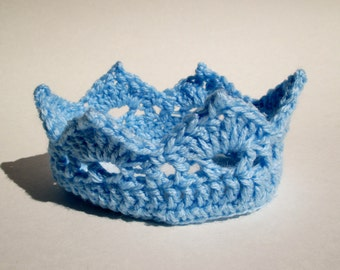 Crochet Crown, Newborn Crochet Crown, Baby Crochet Crown, Photography Prop, Baby Princess / Prince, Baby Boy Crown, Baby Girl Crown