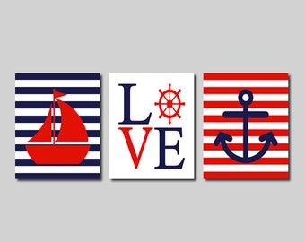 Popular items for anchors navy on Etsy