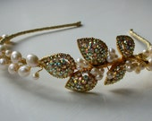 Vintage Bridal Tiara - Darcey Tiara - Vintage brooch circa 1950's