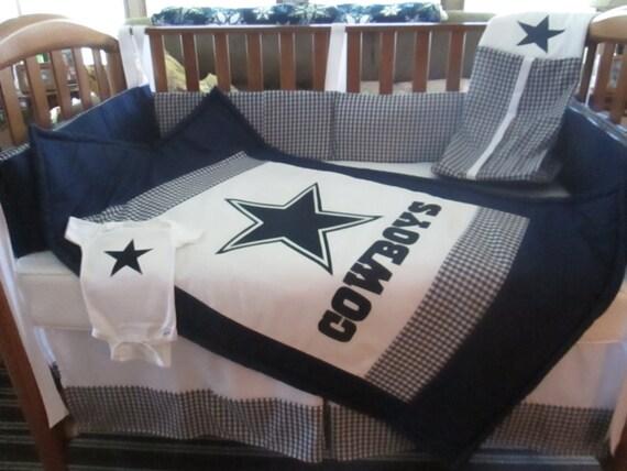 Dallas Cowboys 5 Piece Crib Bedding Set By Craigscraftyworks
