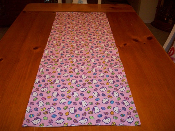 Items similar to easter table runner hello kitty print for Table exterieur hello kitty