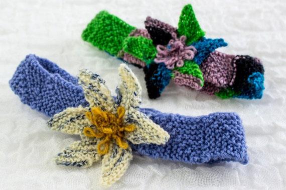 Knitting Pattern Headband With Flower : KNITTING PATTERNBaby Headband Pattern Flower Headband