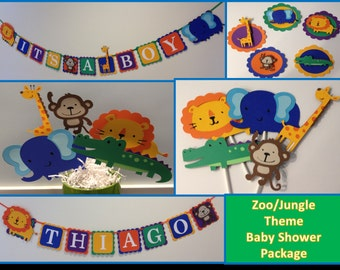 Complete Zoo or Jungle Baby Shower Package