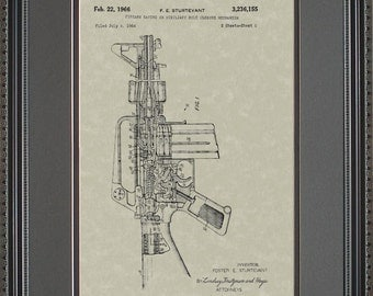 M16 Rifle Patent Art Infantry Military Army Soldier Servicemember M-16 Gift S6155
