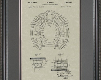 Drum Brakes Patent Art Auto Mechanic Gift Z3055