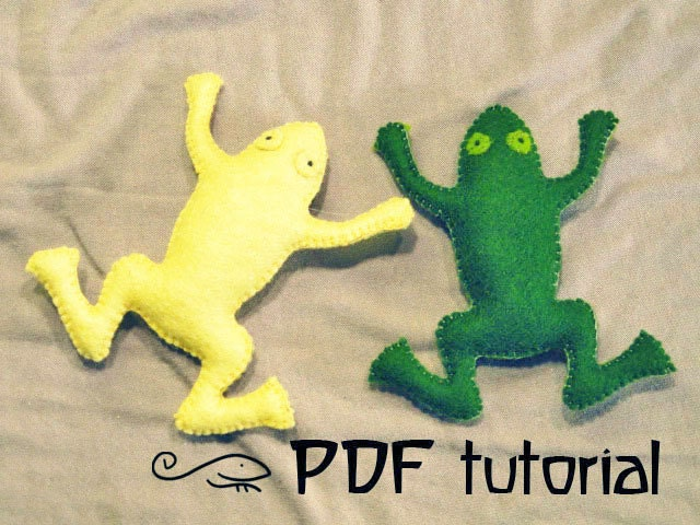 frog felt frog frog pattern frog pdf animal pattern felt. Black Bedroom Furniture Sets. Home Design Ideas
