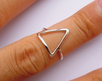 Sterling Silver Triangle Ring All Sizes (5 to 16)